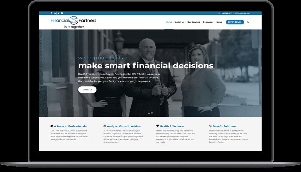 Website Design Project | Financial Partners | Wichita Falls TX